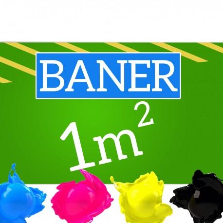 Baner reklamowy 1m2