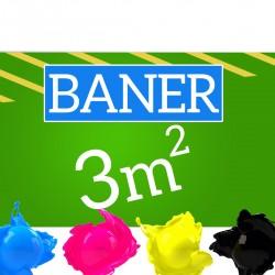 Baner reklamowy 3m2