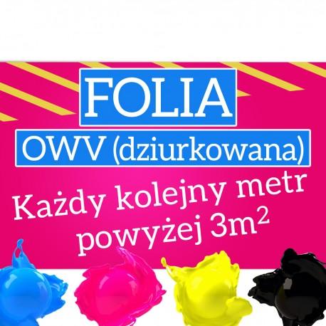 Folia OWV - kolejne metry powyżej 3m2