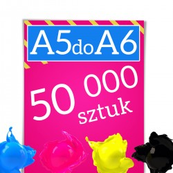 Ulotki A5 składane do A6 50 000