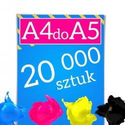 Ulotki A4 składane do A5 20 000
