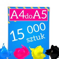 Ulotki A4 składane do A5 15 000