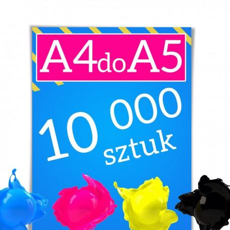 Ulotki A4 składane do A5 10 000