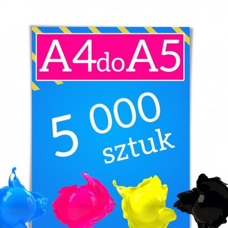Ulotki A4 składane do A5 5 000