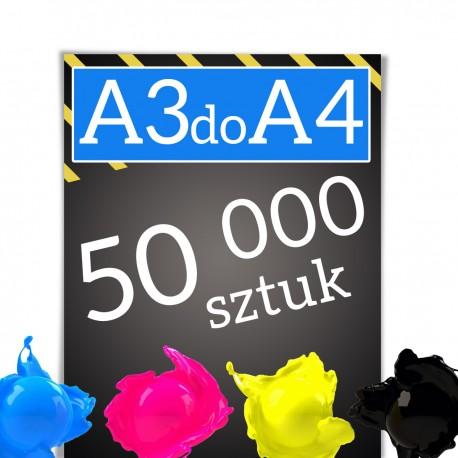 Ulotki A3 składane do A4 50 000