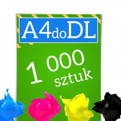 Ulotki A4 składane w C lub Z do formatu DL 1000