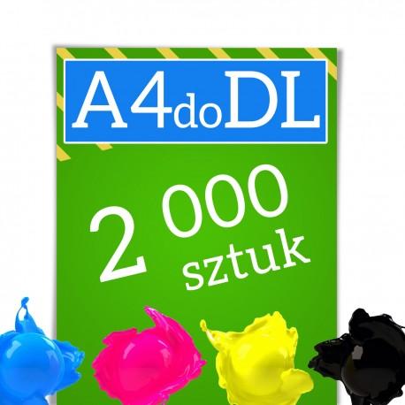 Ulotki A4 składane w C lub Z do formatu DL 2000