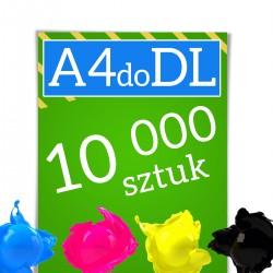 Ulotki A4 składane w C lub Z do formatu DL 10 000