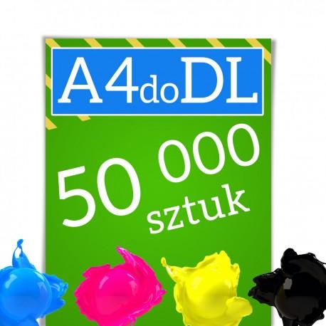 Ulotki A4 składane w C lub Z do formatu DL 50 000